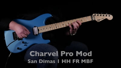 Charvel Pro Mod San Dimas Style 1 HH FR MPL Matte Blue Frost