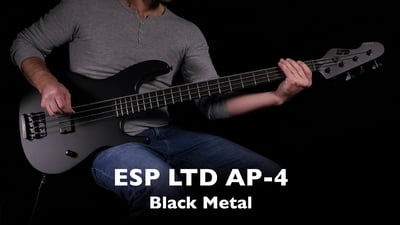 ESP LTD AP-4 Black Metal