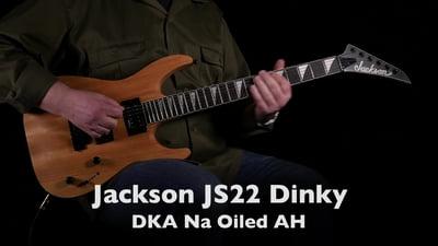 Jackson JS22 Dinky DKA AH Natural Oiled