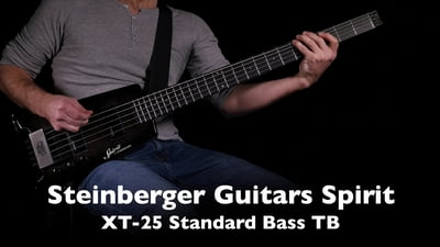 Steinberger Spirit XT-25 Standard Bass TB Trans Black Headless Bass