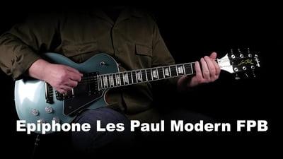 Epiphone Les Paul Modern Faded Pelham Blue