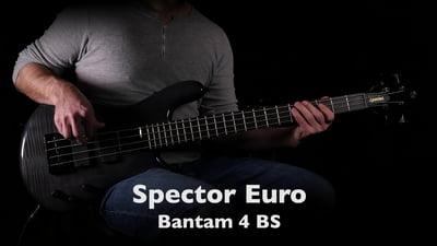 Spector Euro Bantam 4 Black Stain Gloss