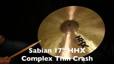 Sabian 17 HHX Complex Thin Crash