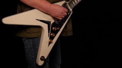 Dean Guitars Christian Martucci V Vintage White