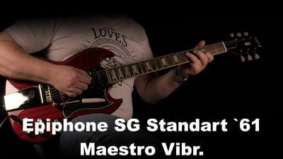Epiphone SG Standard '61 Maestro Vibrola Vintage Cherr