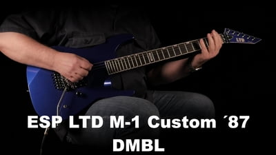 ESP LTD M-1 Custom ´87 Dark Metallic Blue