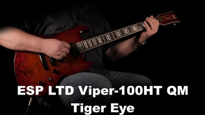 ESP LTD Viper-1000HT QM Tiger Eye Sunburst