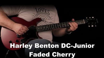 Harley Benton DC-Junior Faded Cherry