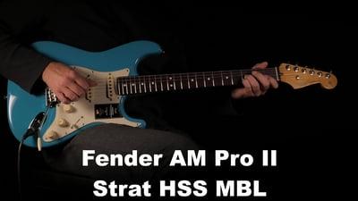 Fender AM Pro II Strat HSS MBL