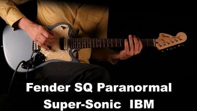 Fender Squier Paranormal Super-Sonic Ice Blue Metallic