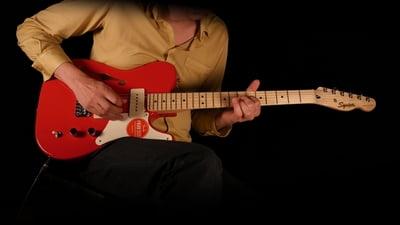 Fender Squier Paranormal Cabronita Thinline Telecaster Fiesta Red