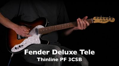 Fender Deluxe Telecaster Thinline PF 3CSB