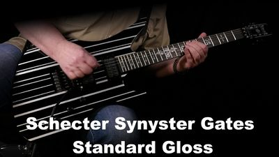 Schecter Synyster Gates Standard Gloss Black Silver Pin Stripes