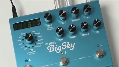 Strymon Big Sky: Hall-Effekt