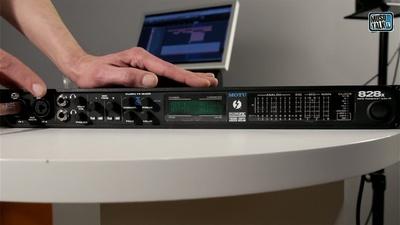 Motu 828x Audio-Interface mit Thunderbolt und USB Anschluß - MusoTalk.TV